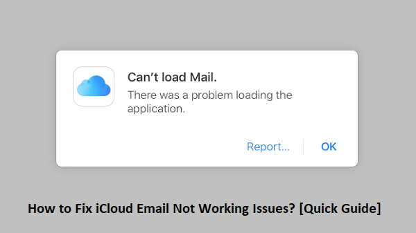 iCloud Email Not Working